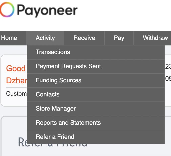 партнерская программа Payoneer